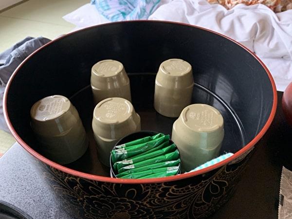 伊香保グランドホテルの部屋のお茶